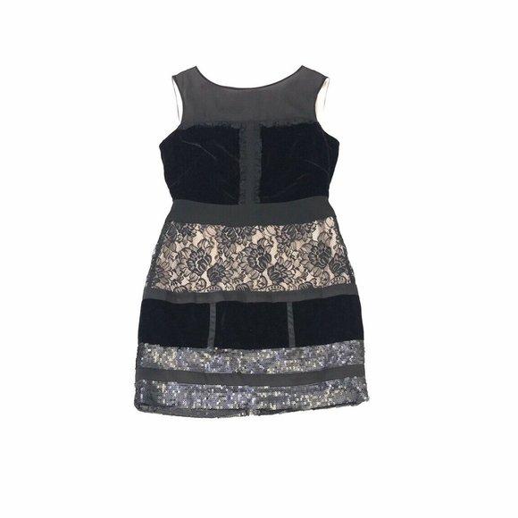 Jessica Simpson Sheath Dress Womens 10 Black NWT